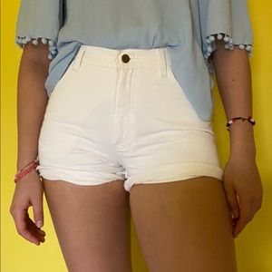 The London Jean vintage white shorts